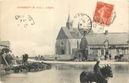 28 - DAMBRON - L'eglise Et La Mare En 1908 - France
