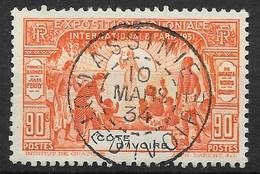 COTE D'IVOIRE : EXPO 1931 N° 86 OBLITERE PAR SUPERBE CACHET ASSINI DU 10 MARS 34 - Elfenbeinküste (1892-1944)
