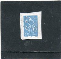 FRANCE    0,75 €     2005   Y&T: 3737   Marianne De Lamouche      Sur Fragment Oblitéré - 2004-08 Marianne Of Lamouche