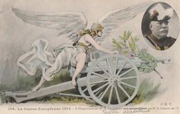 LA GUERRE EUROPEENNE 1914 - L'ORGANISATEUR DE LA VICTOIRE ET SON MERVEILLEUX OUTIL LE CANON DE 75 - CARTE COLORISEE, ALE - Materiale