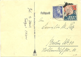 CARTE POSTALE SATIRIQUE 1940 - Timbres