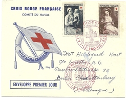 PREMIER JOUR CROIX ROUGE 1953 - FDC