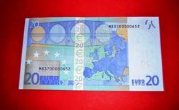 20 EURO PORTUGAL - U018F5 - NICE Serial Number - M83700000652 / Perfect UNC - EURO
