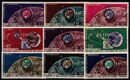 SERIE COLONIALE - 1962 - LIAISON T.V. PAR SATELLITE - SERIE COMPLETE - LUXE. - France (ex-colonies & Protectorats)