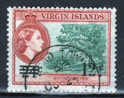 British Virgin Islands 1962 Queen Elizabeth Single 12 Cent Overprint Stamp From The Definitive Set. - British Virgin Islands