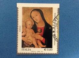 2011 ITALIA FRANCOBOLLO USATO STAMP USED NATALE MADONNA CON BAMBINO - 2011-...: Usati