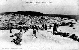 Départ Pour La Course Régionale De Ski - France