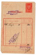 1930s YUGOSLAVIA, SERBIA, VRSAC, INVOICE, PUTNIK,  IMPRINTED FISCAL STAMP - Invoices & Commercial Documents