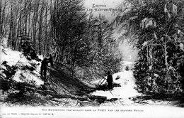 Nos Bûcherons Travaillant Dans La Forêt Par Les Grandes Neiges - France