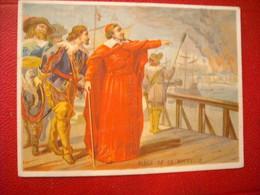 Bon Point Historique 12x9cm , Editeur 8 Rue François 1er Paris , Richelieu Devant La Rochelle - Kaufmanns- Und Zigarettenbilder