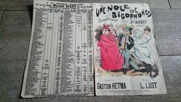 Une Noce De Bigophones Chansonnette Comique Créée Par Nancy Au Parisien Dessin De Esch Musique De Lust - Partitions Musicales Anciennes