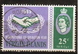 British Virgin Islands 1965 Queen Elizabeth Single 25 Cent Stamp From The ICY Set. - British Virgin Islands