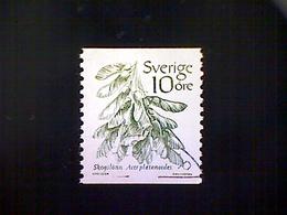 Sweden (Sverige), Scott #1431, Used (o), 1983, Norwegian Maple, 10ö, Green - Used Stamps
