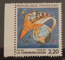 FRANCE YT 2503 NEUF LA COMMUNICATION VUE PAR PELLOS ANNÉE 1988 - Ungebraucht