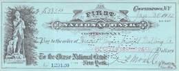 Cooperstown NY 1932 First National Bank Check $385.26 AU/EF (II) - Schecks  Und Reiseschecks
