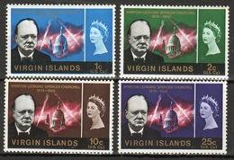 British Virgin Islands 1966 Queen Elizabeth Set Of Stamps Celebrating The Churchill Commemoration. - British Virgin Islands