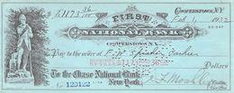 Cooperstown NY 1932 First National Bank Check $117,36  AU/EF (II) - Schecks  Und Reiseschecks