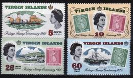British Virgin Islands 1966 Queen Elizabeth Set Of Stamps Celebrating The Stamp Centenary. - British Virgin Islands