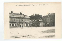 51 Sainte Menehould  L'Eglise Vue De La Place D'Austerlitz Animée Banque Societe Generale - Sainte-Menehould