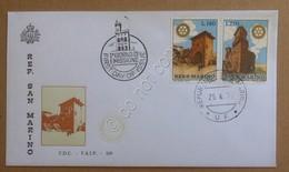 FDC San Marino 1970 - Rotary International - Busta F.A.I.P. Non Viaggiata - Francobolli
