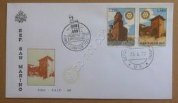 FDC F.A.I.P. San Marino 1970 - Rotary International - Busta Non Viaggiata - Francobolli