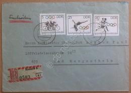 Storia Postale DDR Germania Est 1964 - 3 Valori Olimpiadi Su Raccomandata - Francobolli