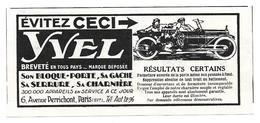 1924 Yvel Son Bloque-porte, Sa Gache, Sa Serrure, Sa Charnière Avenue Perrichont Paris (Pour Automobile - Voiture) - Publicités