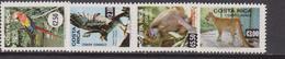 Costa Rica Aereo 1981 Yvert 802/5 ** Mnh Fauna - Costa Rica