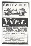 1926 Yvel Son Bloque-porte, Sa Gache, Sa Serrure, Sa Charnière Avenue Perrichont Paris (Pour Automobile - Voiture) - Publicités