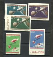 PARAGUAY SPACE KOSMOS MICHEL 1303/7 IMPERFORATED SPECIMEN MNH - Paraguay