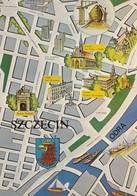 AK MAP, Landkarte, Citymap, Stadtplan **Szczecin** Polen, Poland, Polska - Cartes Géographiques