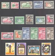 Zanzibar Scott 285/300 & 301/304 - SG414/433, 1964 Jamhuri Set MH* - Zanzibar (...-1963)