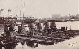 RPPC REAL PHOTO POSTCARD SUBMARINES FOLKESTONE 1909 - Folkestone