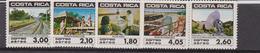 Costa Rica Aereo Telecom Railway Set MNH - Costa Rica
