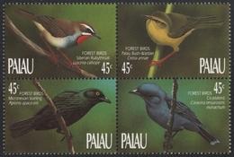 Palau 1990 - Mi-Nr. 347-350 ** - MNH - Vögel / Birds - Palau