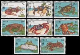 Nevis 1990 - Mi-Nr. 538-545 ** - MNH - Krabben / Crabs - St.Kitts Und Nevis ( 1983-...)