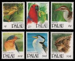 Palau 1992 - Mi-Nr. 525-530 ** - MNH - Vögel / Birds - Palau