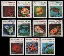Palau 1983 - Mi-Nr. 9-19 ** - MNH - Fische / Fish - Palau