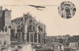 L'aviation à Narbonne - Védrines évoluant Sur La Cathédrale Saint-Just - Narbonne