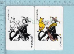 Joker - 2 Joker Fou Joue Aux Cartes Avec Un Hibou Arriere Ours Polaire Blanc - Cartes à Jouer Classiques