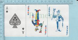 Joker - 2 Joker + Ace De Pic, Arriere Drapeau Du Quebec Canada - Cartes à Jouer Classiques