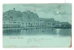 1902 Malta, Custom House, Used Valletta Pmk To London - Malta