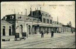 Cpa  Argentan   Intérieur De La Gare   Animée - Argentan