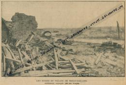 Photo (1916), Guerre 14-18 : SAILLY-SAILLISEL (Somme), Les Ruines Du Village Entièrement Reconquis Par Nos Troupes - Documents Historiques