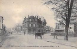 78 - MAISONS LAFFITTE : Hotel Restaurant De LA GARE - Avenue De Poissy Et Rue Saint Nicolas - CPA - Yvelines - Maisons-Laffitte