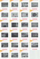 Lot De 23 Diapositives Dépôt D'une Gerbe Sur La Tombe De Fritz Gegauf + Visite Des Usines Bernina Steckborn Suisse 1966 - Dias
