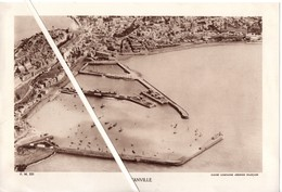 Photo Ancienne Grand Format : 28 X18,8 Cm. Granville. Cliché Compagnie Aérienne Française. - Photographie