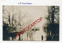 Carte NON SITUEE-Canal-Peniches-CARTE PHOTO Allemande-GUERRE 14-18-1WK-BELGIEN-Flandern-??? - Non Classés