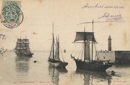 Granville . Sortie Du Port . Voilier Terre Neuve Islande Grande Peche Morue . Edit J. Puel - Sailing Vessels