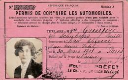 Aisne - Permis De Conduire Les Automobiles 1933 - Non Classés